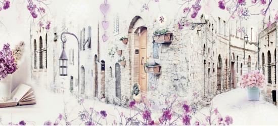 """Стеновая панель с фотопечатью """"Сиреневая весна"""""""