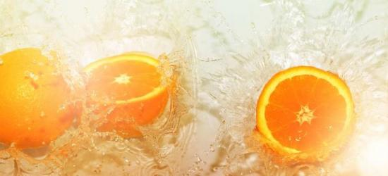 """Стеновая панель с фотопечатью MSK03 """"Апельсиновый сок"""""""