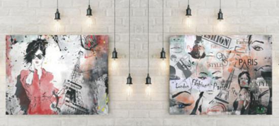 """Стеновая панель  с фотопечатью """"Графити"""""""