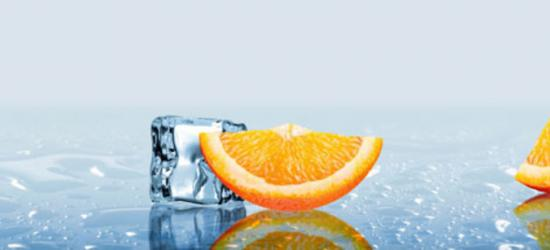 """Стеновая панель  с фотопечатью М9 """"Апельсиновые дольки"""""""