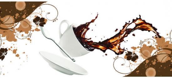 """Стеновая панель  с фотопечатью SP106 """"Натюрморт с чашкой кофе"""""""