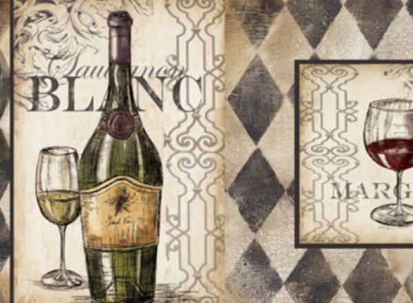 """Стеновая панель с фотопечатью """"Французское вино"""""""