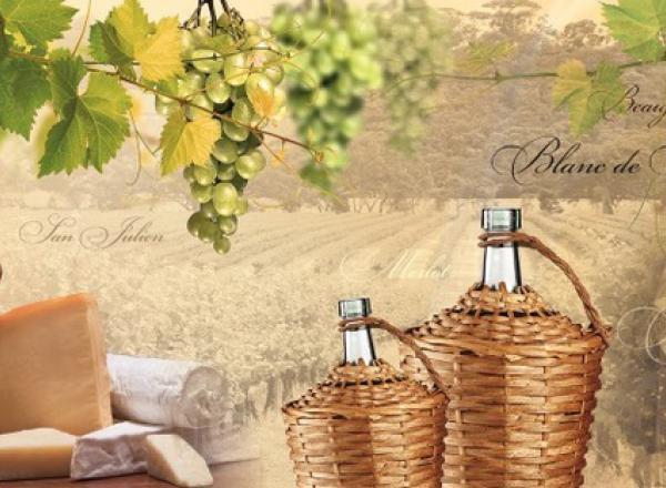 """Стеновая панель с фотопечатью """"Виноградник"""""""