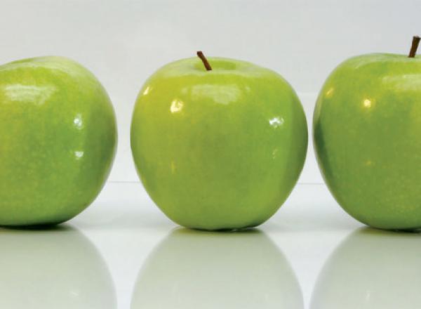 """Стеновая панель с фотопечатью """"Яблоки"""""""