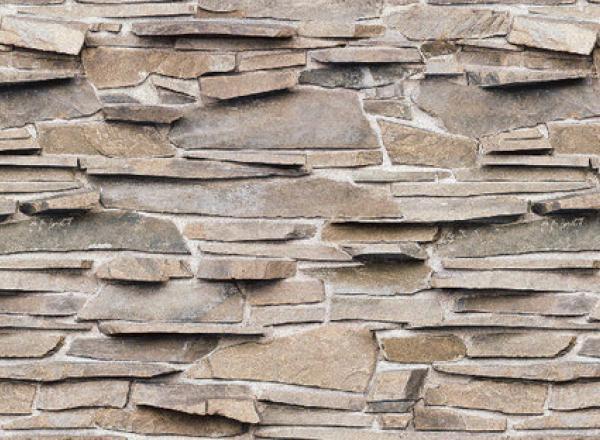 """Стеновая панель  с фотопечатью """"Бурые камни"""""""