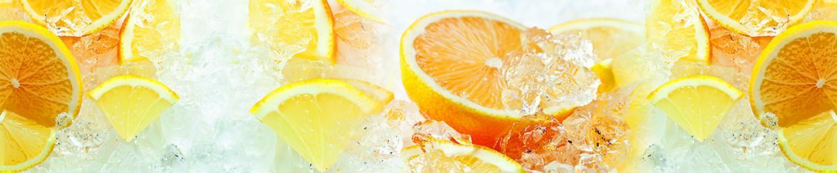 """Стеновая панель с фотопечатью FM50 """"Апельсиновый лёд"""""""
