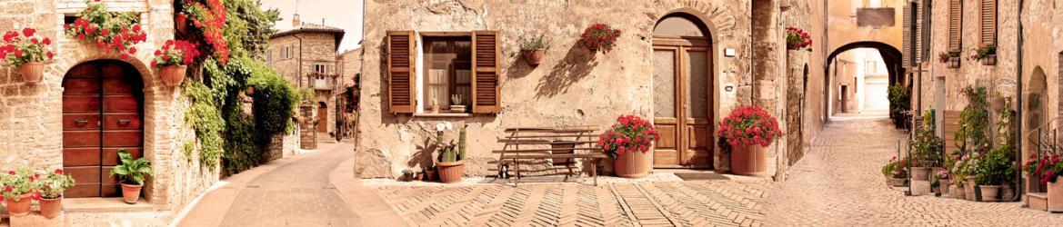 """Стеновая панель с фотопечатью """"Итальянский дворик"""""""