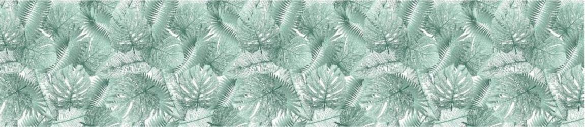 """Стеновая панель с фотопечатью """"Тропические листья"""""""