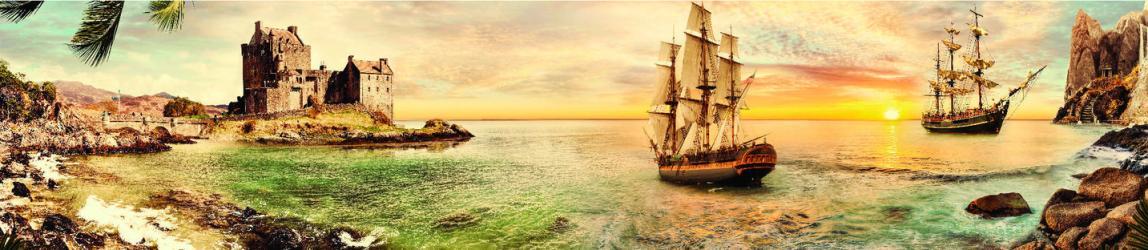 """Стеновая панель  с фотопечатью """"Пираты"""""""