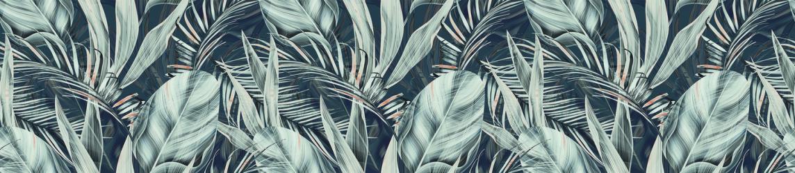 """Стеновая панель с фотопечатью """"Финиковые листья"""""""
