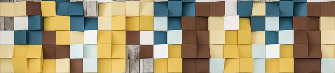 """Стеновая панель с фотопечатью """"Цветные квадраты"""""""