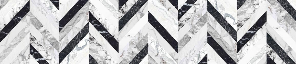 """Стеновая панель с фотопечатью """"Мраморная ёлочка"""""""