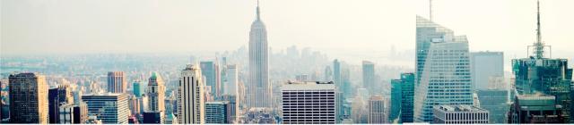 """Стеновая панель с фотопечатью """"Городской туман"""""""