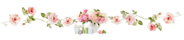 """Стеновая панель с фотопечатью """"Розы sweet home"""""""
