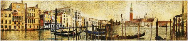 """Стеновая панель с фотопечатью """"Прогулка по Венеции"""""""