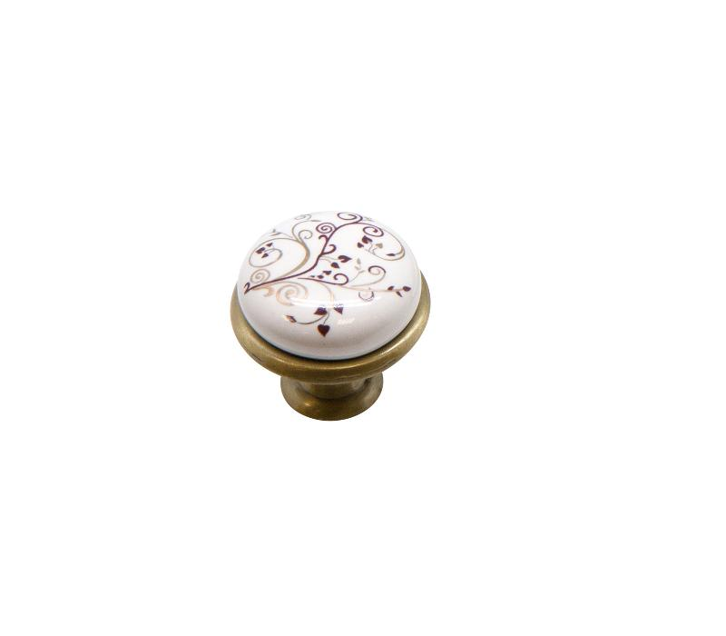 Ручка-кнопка KF01-04 BA бронза