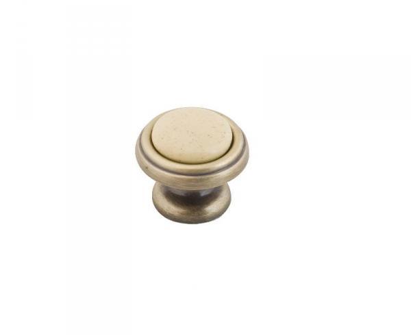 Ручка-кнопка KF03-05 OBA оксидированная бронза