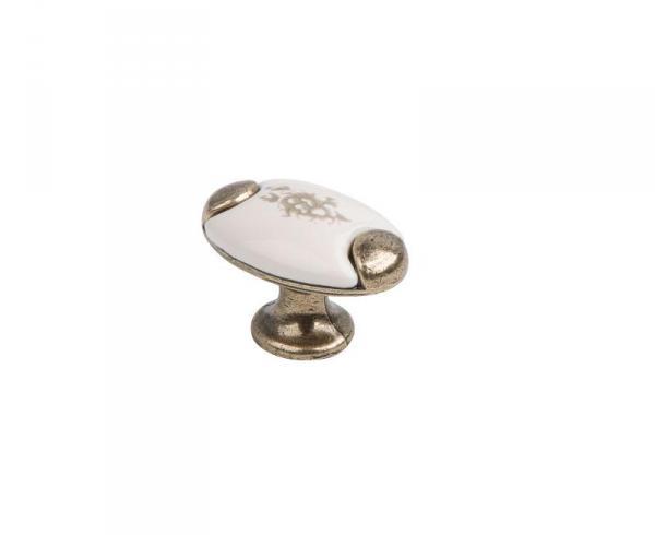 Ручка-кнопка KF05-09 OBA оксидированная бронза