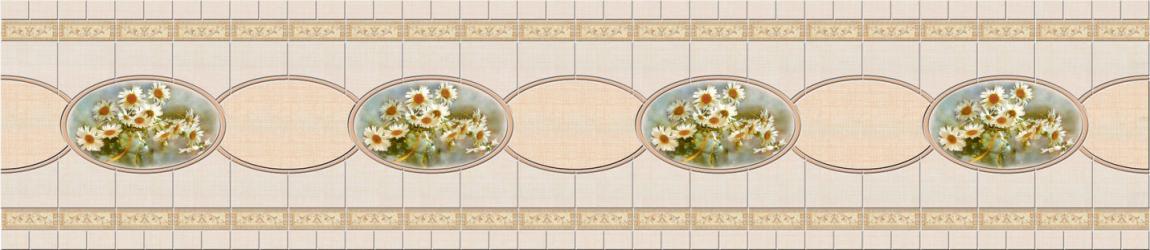 """Стеновая панель с фотопечатью SP023 """"Полевые цветы"""""""